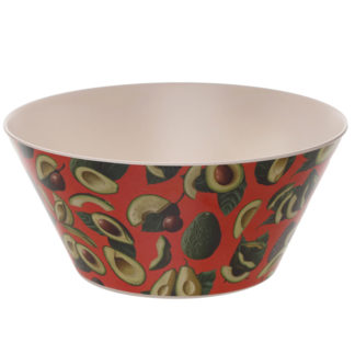 Avocado Design Eco Friendly Bamboo Salad Bowl