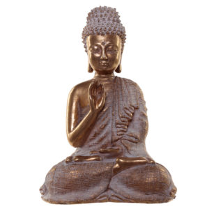 Thai Buddha Figurine - Gold and White Serenity