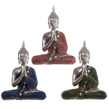 Thai Buddha Figurine - Metallic Contemplation