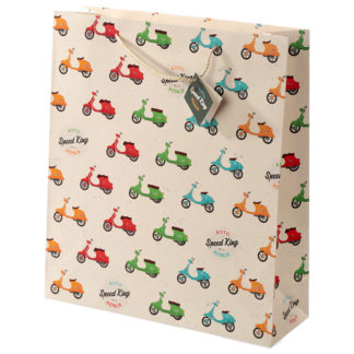 Novelty Scooter Design Extra Large Gift Bag