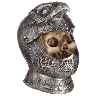 Gothic Skull in Medieval Bird Helmet Ornament