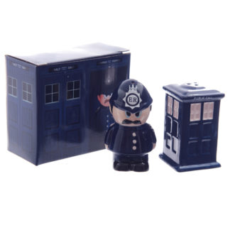 Novelty Police Box and Policeman Salt and Pepper Set