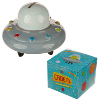 Collectable Ceramic Space Ship Money Box