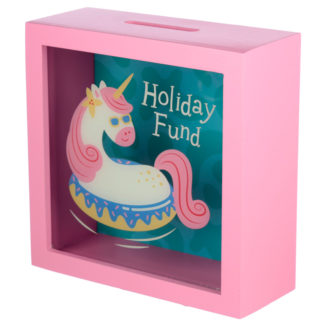 See Your Savings Money Box - Vacation Vibes Unicorn