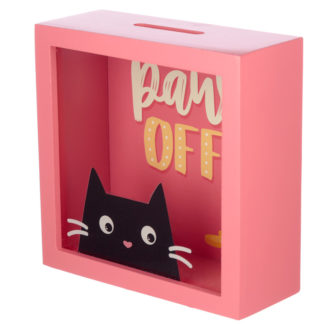 See Your Savings Money Box - Feline Fine Cat Design