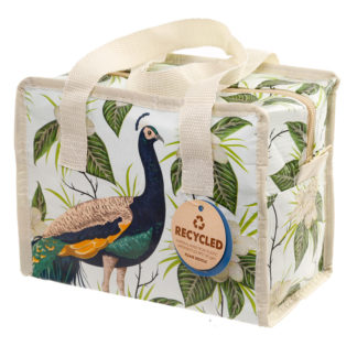 Peacock Zip Up Recycled Plastic Reusable Lunch Bag