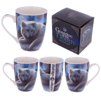 New Bone China Mug - Fantasy Wolf Guardian