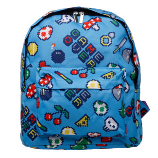 Kids School Rucksack/Backpack - Retro Gaming Design