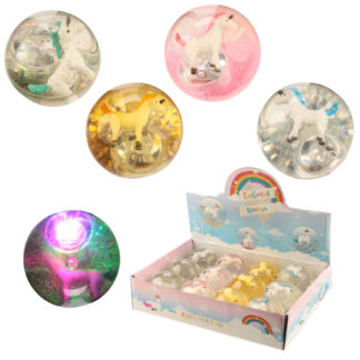 Fun Kids Flashing Bouncy Unicorn Ball