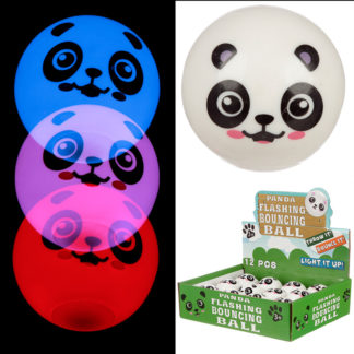 Fun Kids Bouncy Flashing LED Panda Ball