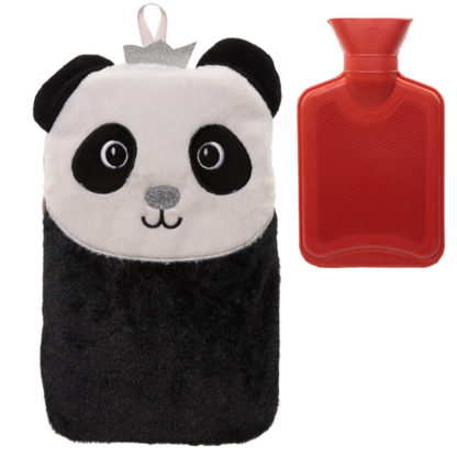 Cute Plush Pandarama Crown 1 Litre Hot Water Bottle and Cover