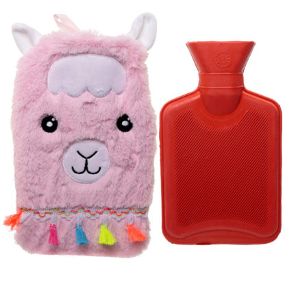 Cute Llamapalooza Design 1 Litre Hot Water Bottle and Cover
