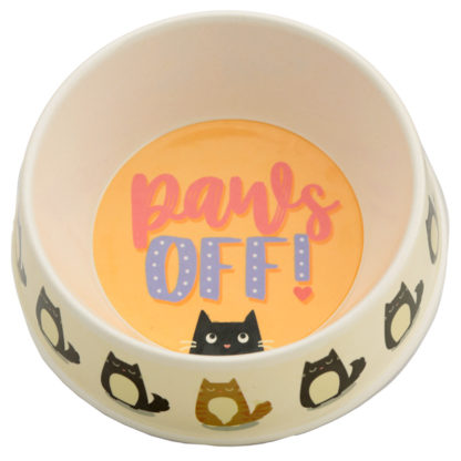 Bamboo Composite Pet Food Bowl - Paws Off Feline Fine Cat