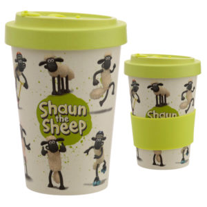 Bamboo Composite Shaun the Sheep Screw Top Travel Mug