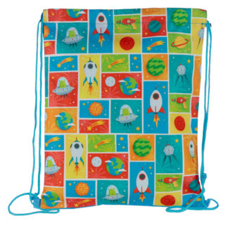 Handy Drawstring Bag - Retro Space Cadet