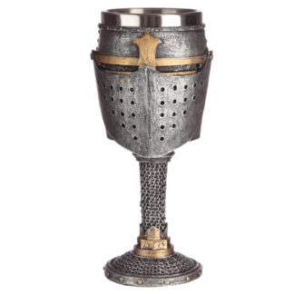 Collectable Decorative Medieval Helmet and Chain Mail Goblet