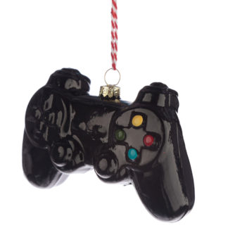Glass Christmas Bauble - Retro Gaming Game Over Controller