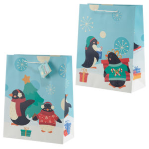 Penguins Large Christmas Gift Bag