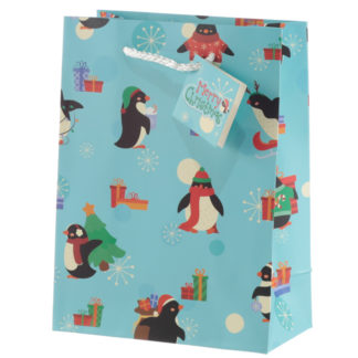 Penguins Medium Christmas Gift Bag