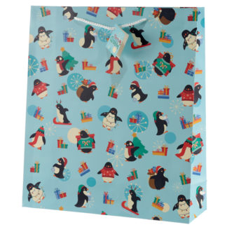 Penguins Extra Large Christmas Gift Bag