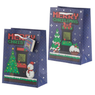 Retro Gaming Game Over Medium Christmas Gift Bag
