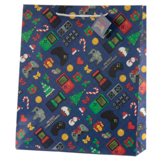 Retro Gaming Game Over Extra Large Christmas Gift Bag