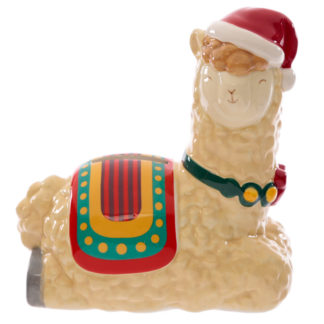Collectable Ceramic Christmas Llama Festive Friends Money Box