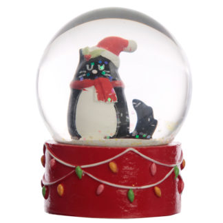 Collectable Christmas Feline Festive Cat Snow Globe Waterball