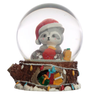 Collectable Christmas Racoon Snow Globe Waterball