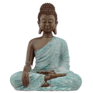 Decorative Turquoise  and  Brown Buddha Figurine - Love