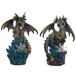 Cute Baby Sweet Dreams Crystal Ice Dragon Figurine