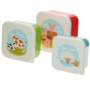 Bramley Bunch Farm Set of 3 Plastic Lunch Boxes