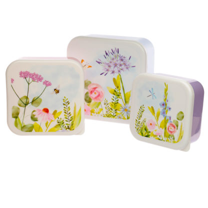 Botanical Gardens Set of 3 Plastic Lunch Boxes (M/L/XL)