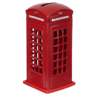 London Souvenir Pencil Money Box - Red Telephone Box
