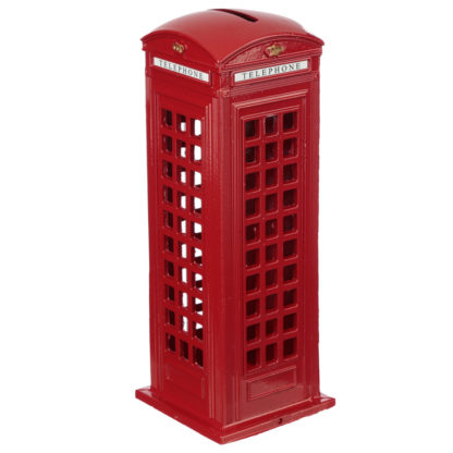London Souvenir Pencil Money Box - Large Red Telephone Box