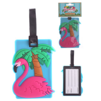Fun PVC Luggage Tag - Flamingo