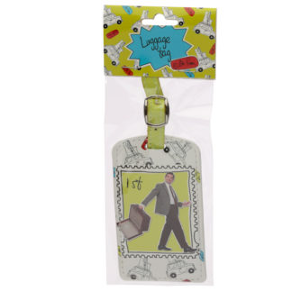 Fun Novelty Mr Bean 1st Class Stamp Luggage Tag