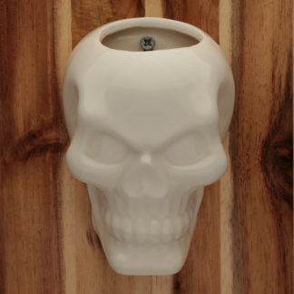 Decorative Ceramic Indoor Wall Planter - Skull