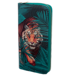 Large Zip Around Wallet - Big Cat Spots and Stripes