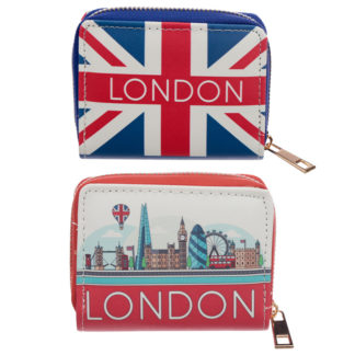 Small Zip Around Wallet - London Icons