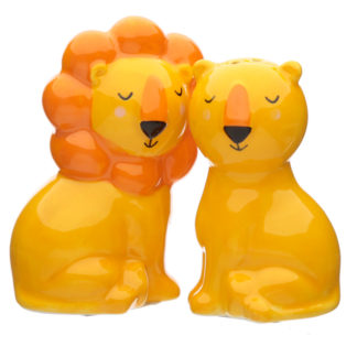 Cute Lion Design Zooniverse Salt and Pepper Set