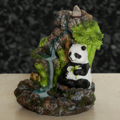 Backflow Incense Burner - Panda Bamboo Waterfall