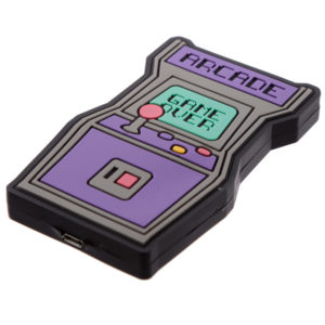 Handy Portable Wireless Phone Charge - Retro Arcade Game Over
