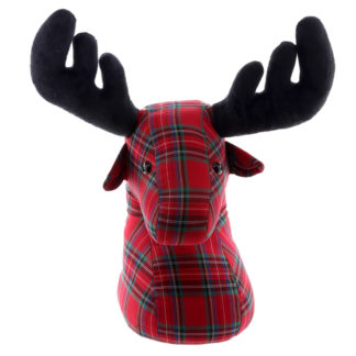 Cute Tartan Stag Design Door Stop