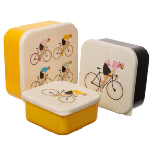 Cycle Works Bicycle Set of 3 Plastic Lunch Boxes (M/L/XL)