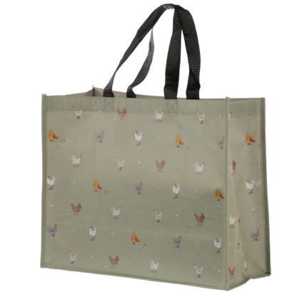 Chickens Willow Farm Recycled Plastic Reusable Shopping Bag