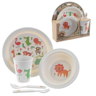 Bamboo Composite Zooniverse Kids Dinner Set