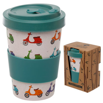 Bamboo Composite Scooter Screw Top Travel Mug