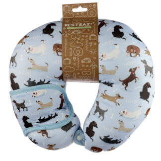 Catch Patch Dog Relaxeazzz Travel Pillow  and  Eye Mask Set