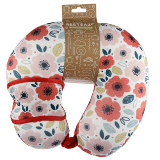 Poppy Fields Relaxeazzz Travel Pillow  and  Eye Mask Set